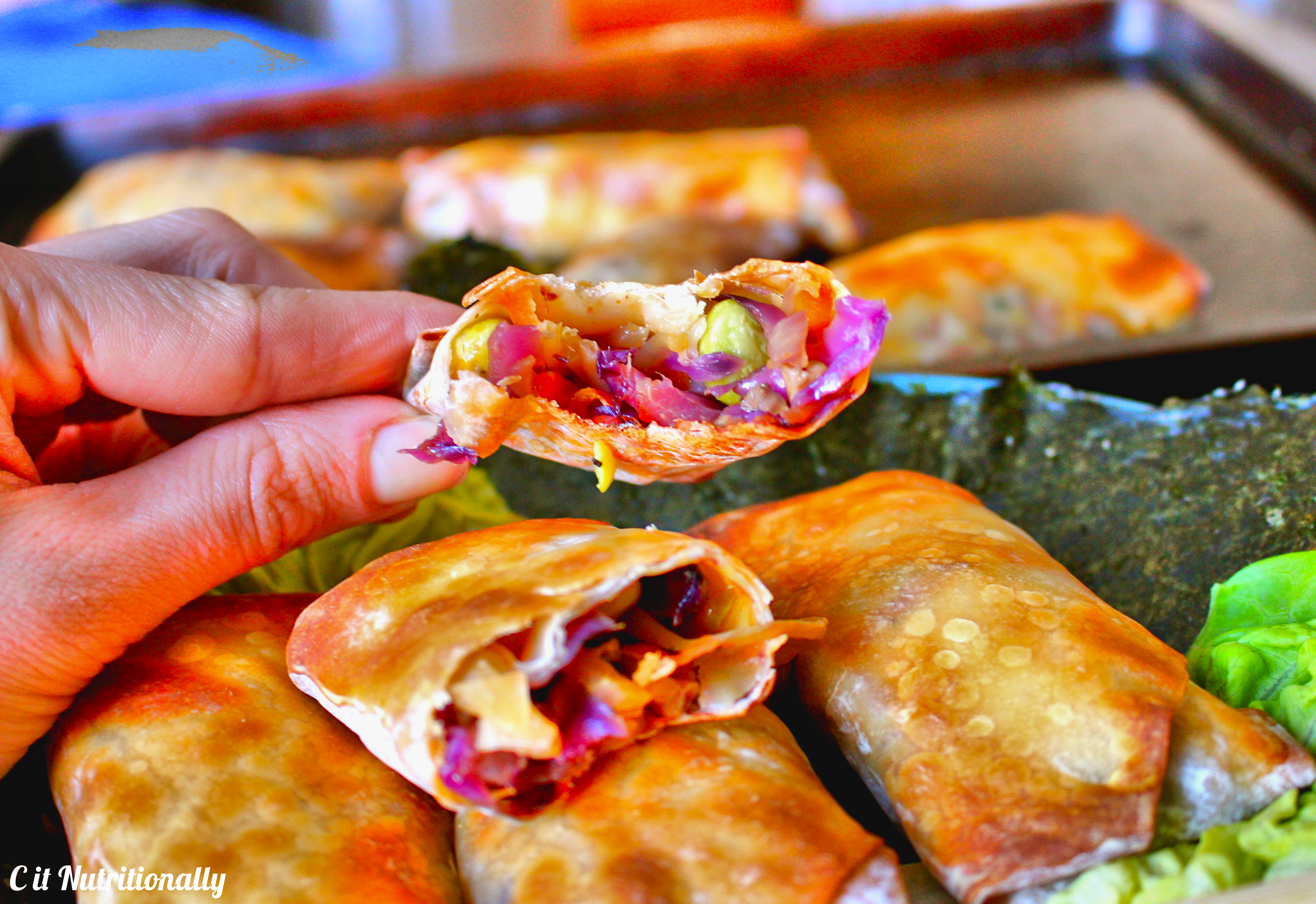how to cook vegetable egg rolls