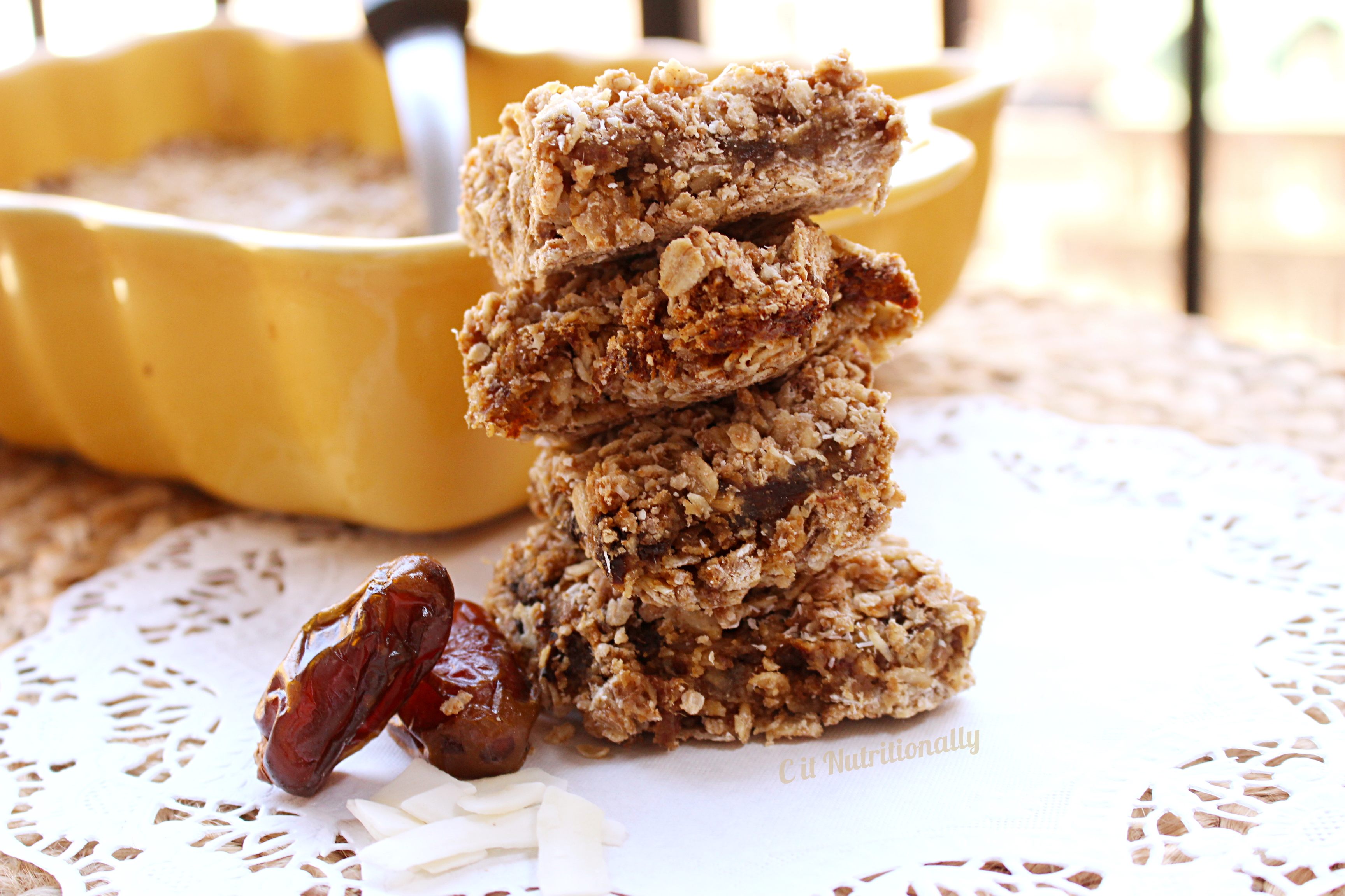 Coconut Date Bars
