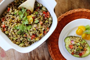 Mung Bean, Quinoa, & Lentil Salad Stuffed Avocado | C it Nutritionally