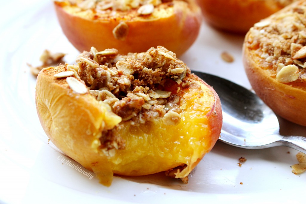 Single-Serve Peach Crumble | C it Nutritionally