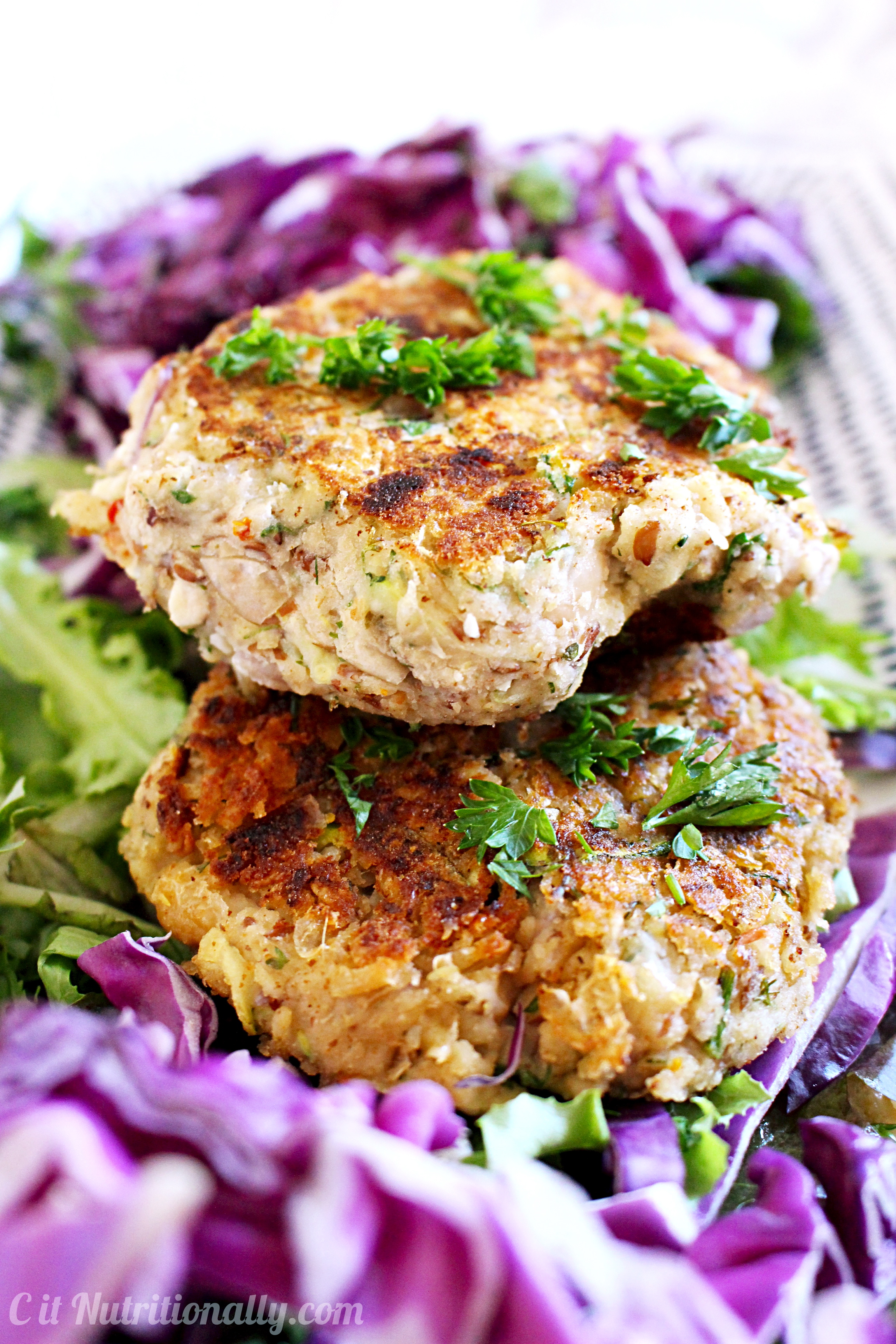 Greek Bean Burgers