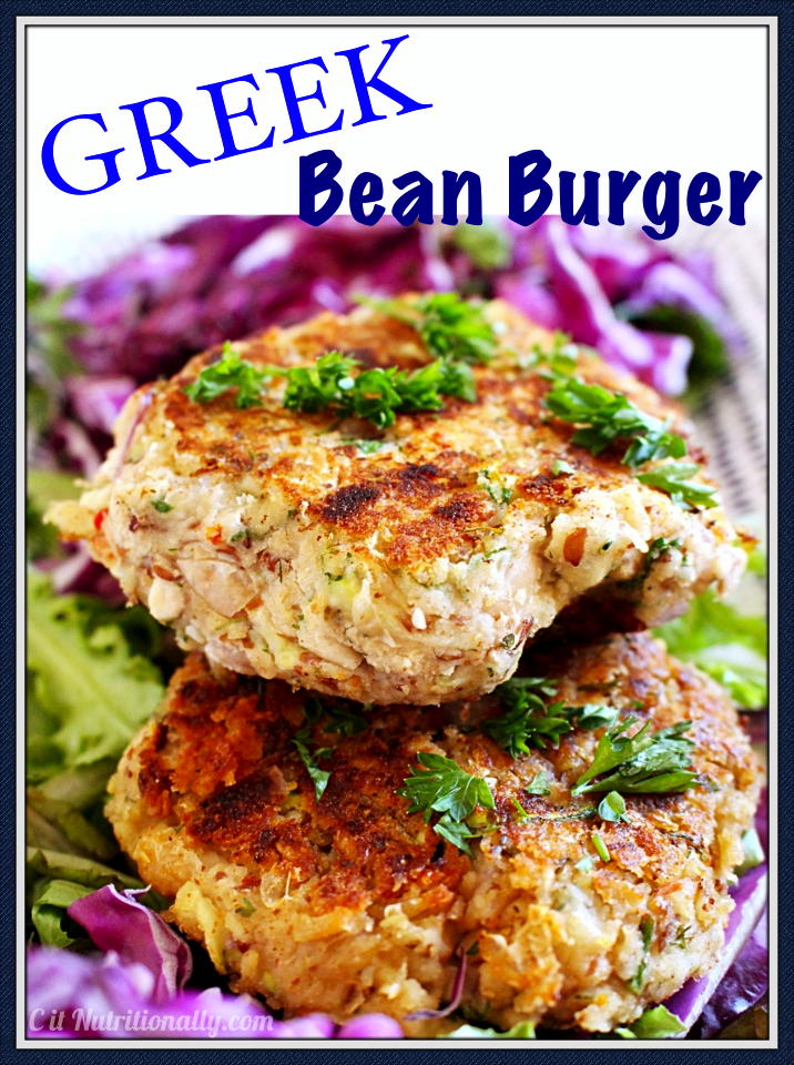 Greek Bean Burger | C it Nutritionally