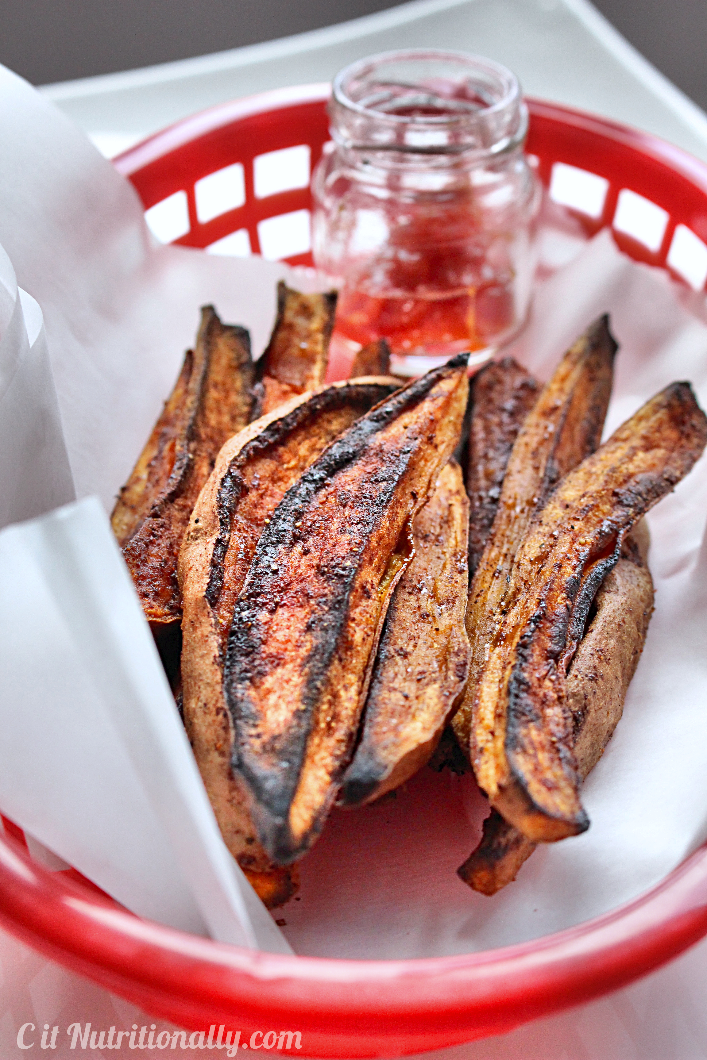 Sweet and Spicy Roasted Sweet Potato Wedges