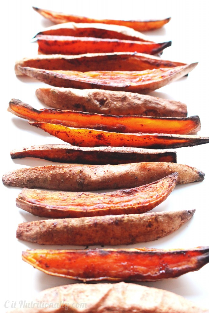 Sweet & Spicy Roasted Sweet Potato Wedges | C it Nutritionally