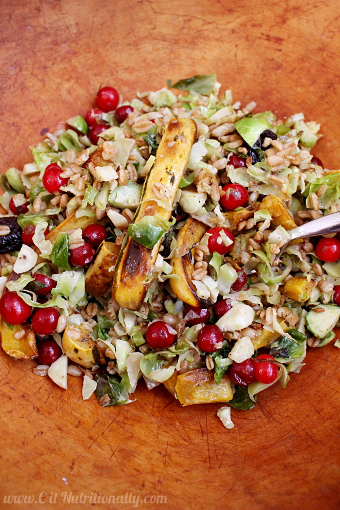 Roasted Brussels Sprouts Salad   C it Nutritionally