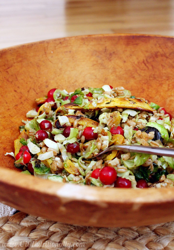 Roasted Brussels Sprouts Salad | C it Nutritionally
