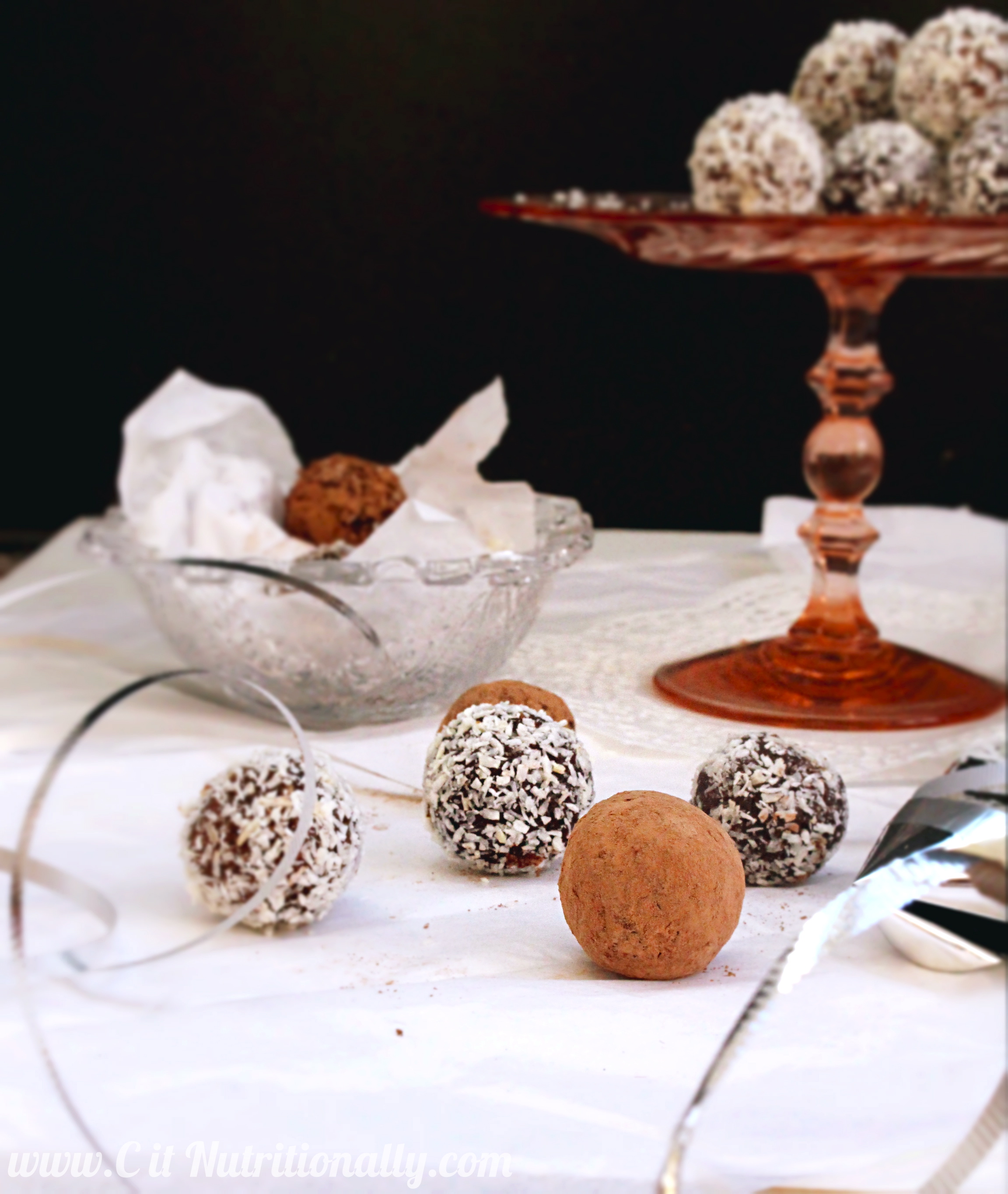 Chocolate Coconut Date Truffles and New Years Resolutions