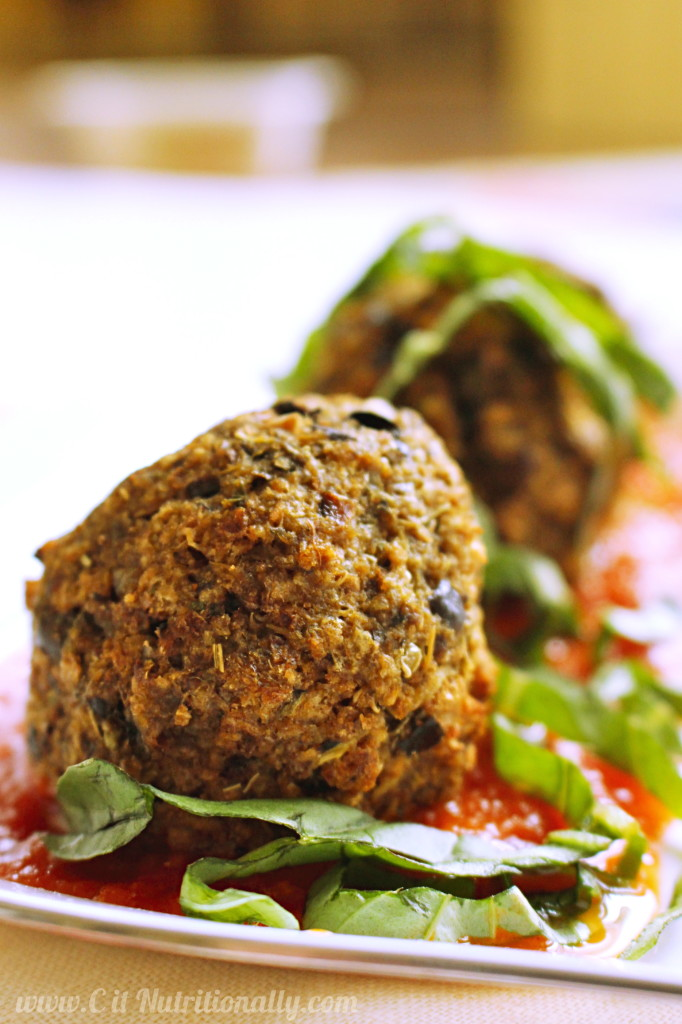 4-Ingredient, Vegan, Eggplant Balls | C it Nutritionally