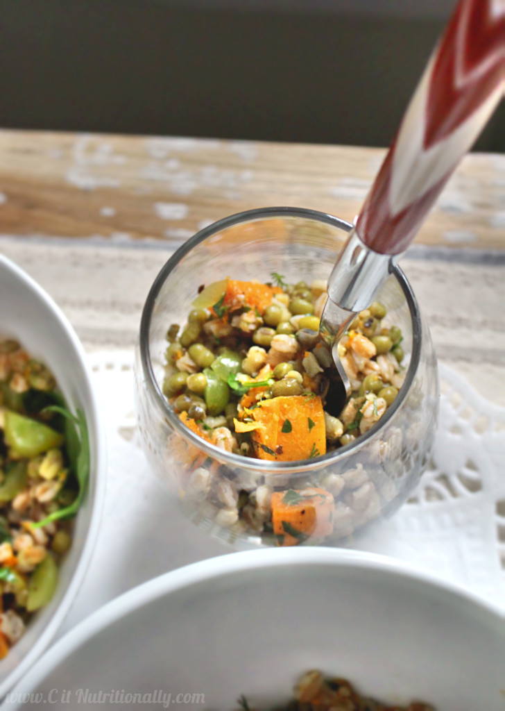 Herbed Butternut Squash and Mung Bean Salad | C it Nutritionally