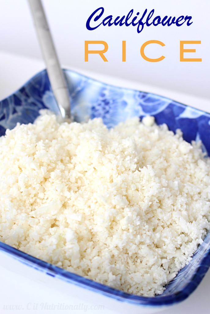 Sauteed Snow Peas with Cauliflower Rice | C it Nutritionally