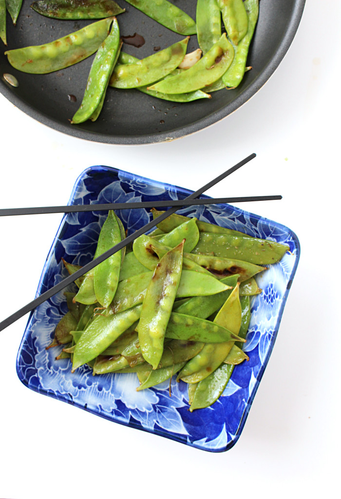 Sauteed Snow Peas with Cauliflower Rice | C it Nutritionally #vegan #glutenfree