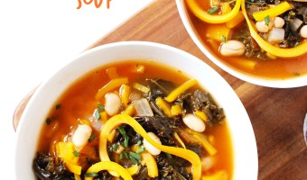 Kale and Butternut Squash Noodle Soup