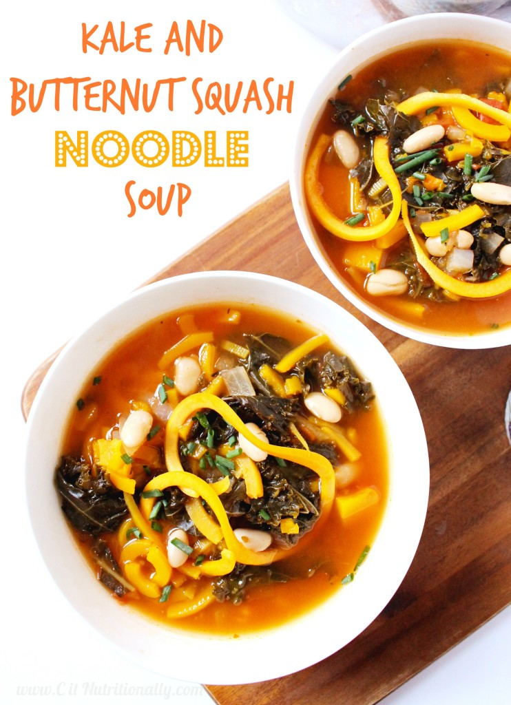 Kale and Butternut Squash Noodle Soup | C it Nutritionally