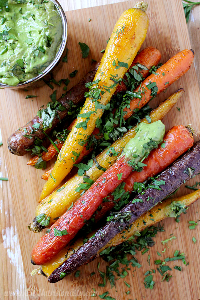 Herb Roasted Carrots with Avocado Dill Dipping Sauce | C it Nutritionally