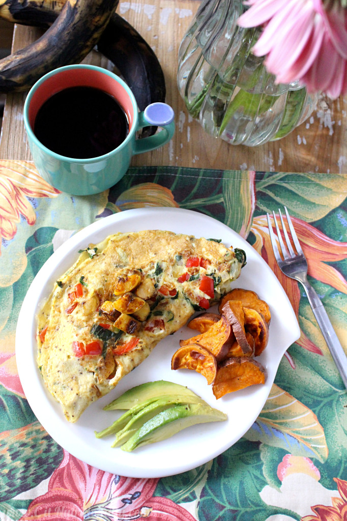 Puerto Rican Omelette | C it Nutritionally #vegetarian #healthyeating #breakfast