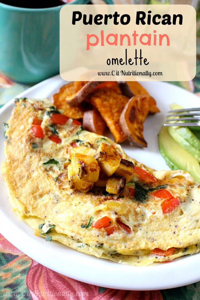 Puerto Rican Omelette | C it Nutritionally #vegetarian #MeatlessMonday