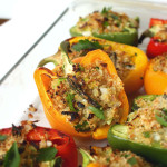 Spring Quinoa Stuffed Peppers | C it Nutritionally #glutenfree #vegetarian