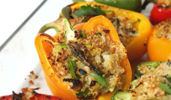 Spring Quinoa Stuffed Peppers