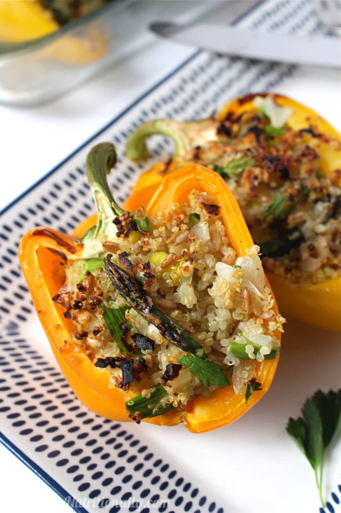 Spring Quinoa Stuffed Peppers | C it Nutritionally #vegetarian #glutenfree #healthyeating