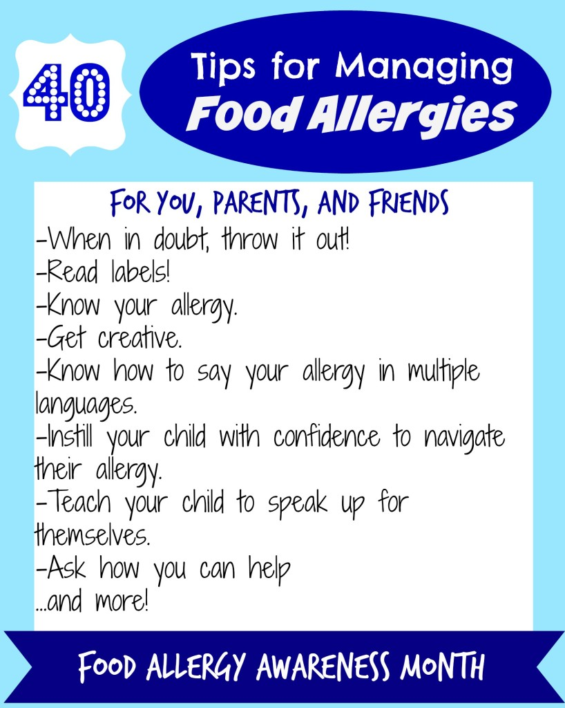 40 Tips for Managing Food Allergies for You, As a Parent & As a Friend | C it Nutritionally