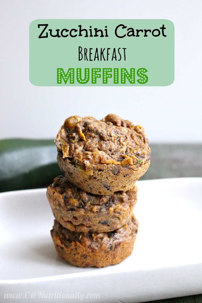 Zucchini Carrot Breakfast Muffins | C it Nutritionally