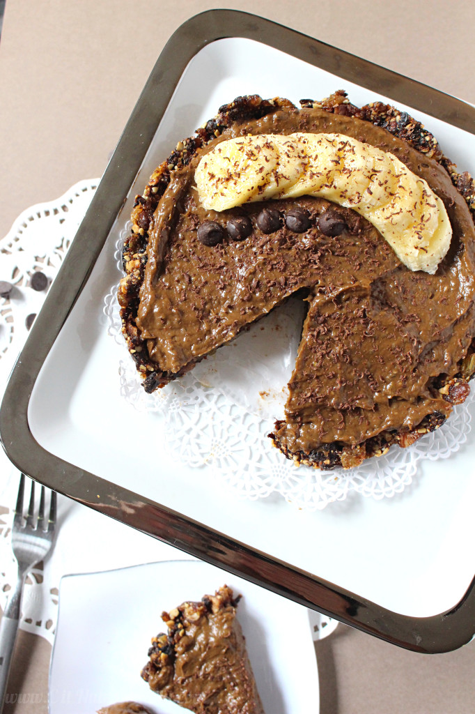 Vegan Chocolate Banana Pudding Pie | C it Nutritionally