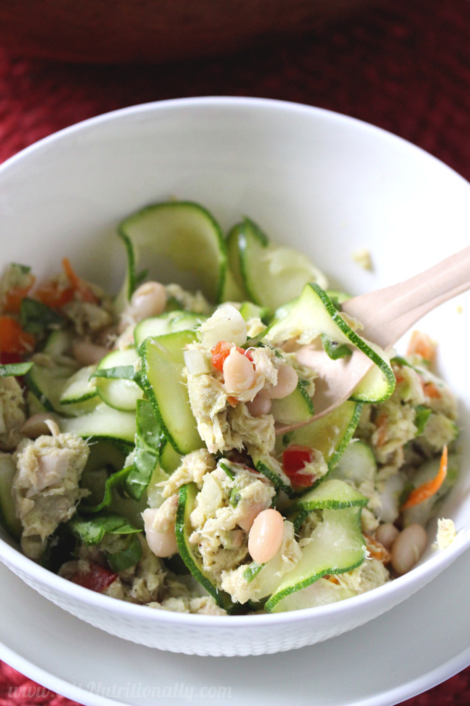 Healthy Tuna Noodle Salad | C it Nutritionally #glutenfree #grainfree #healthyeating #paleo option