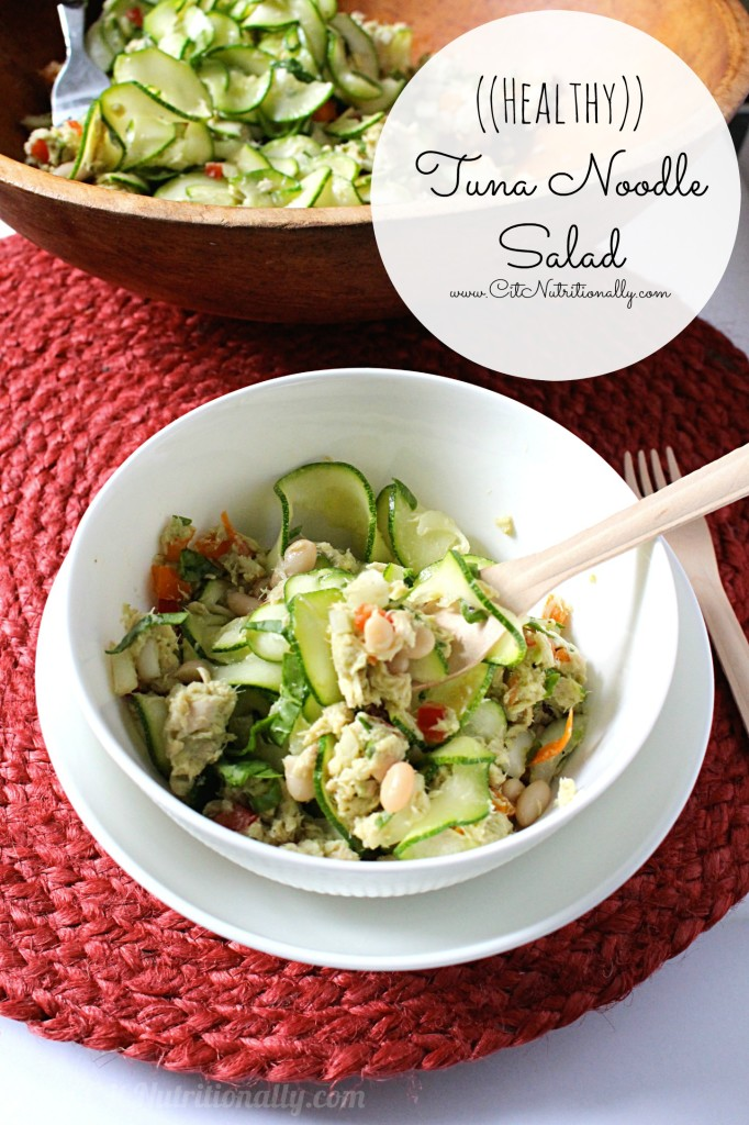 Healthy Tuna Noodle Salad | C it Nutritionally #glutenfree #grainfree