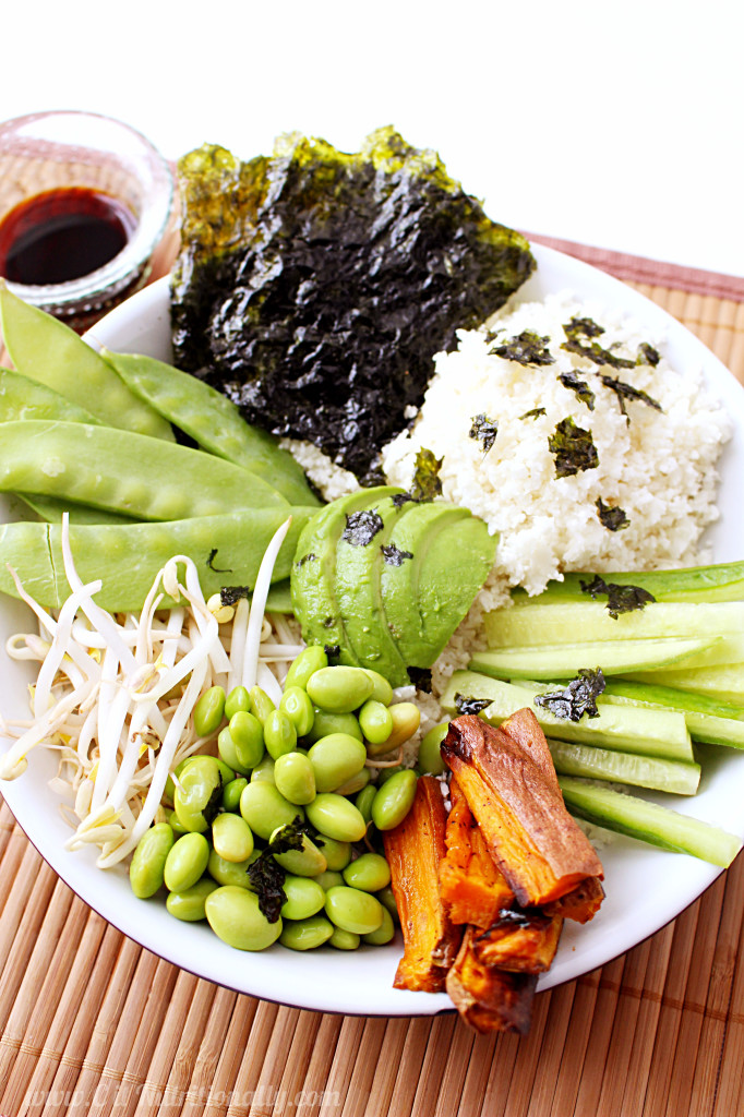 Deconstructed Vegan Sushi Bowl | C it Nutritionally #grainfree