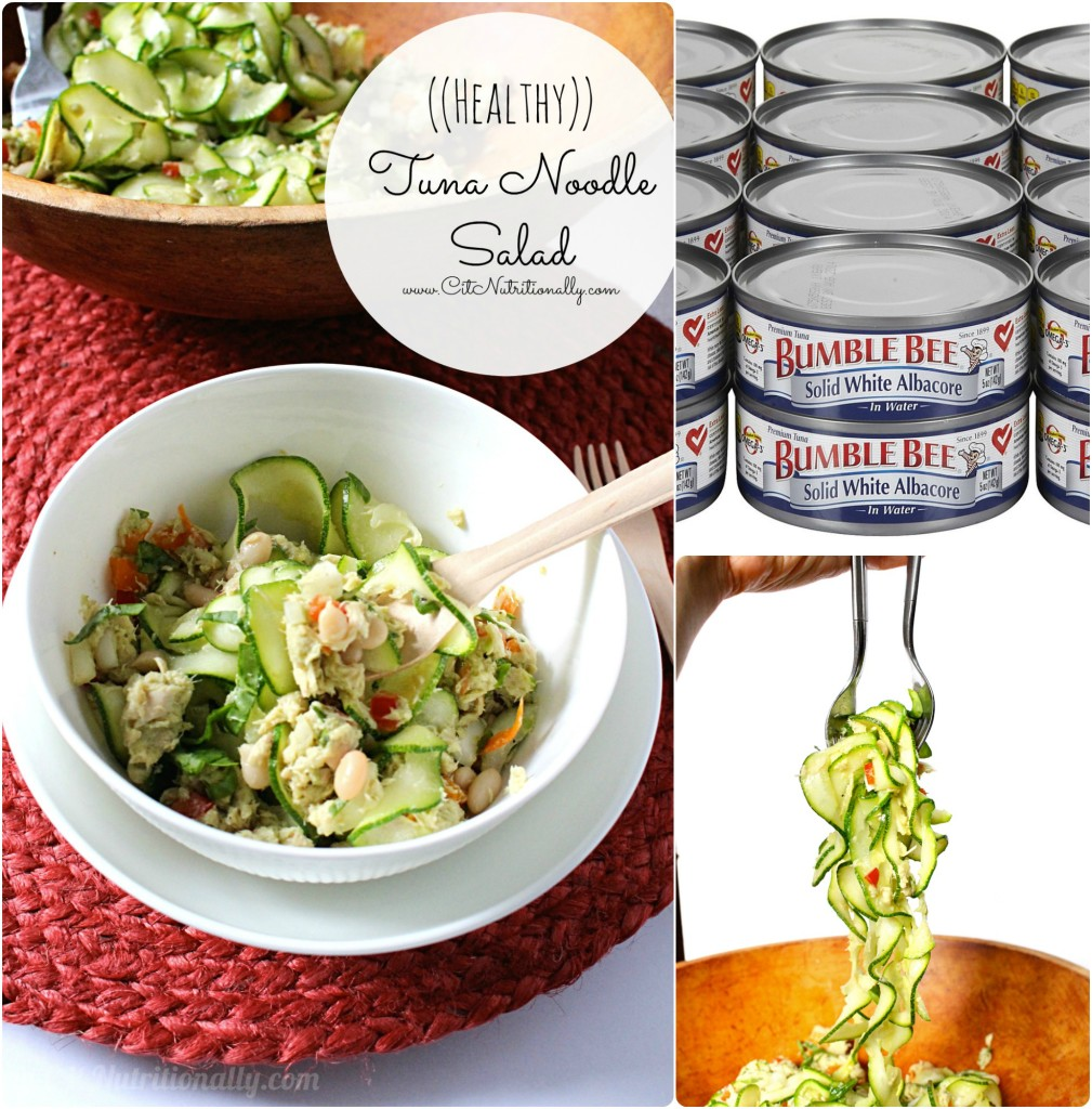 Healthy Tuna Noodle Salad | C it Nutritionally #glutenfree #grainfree #paleo option