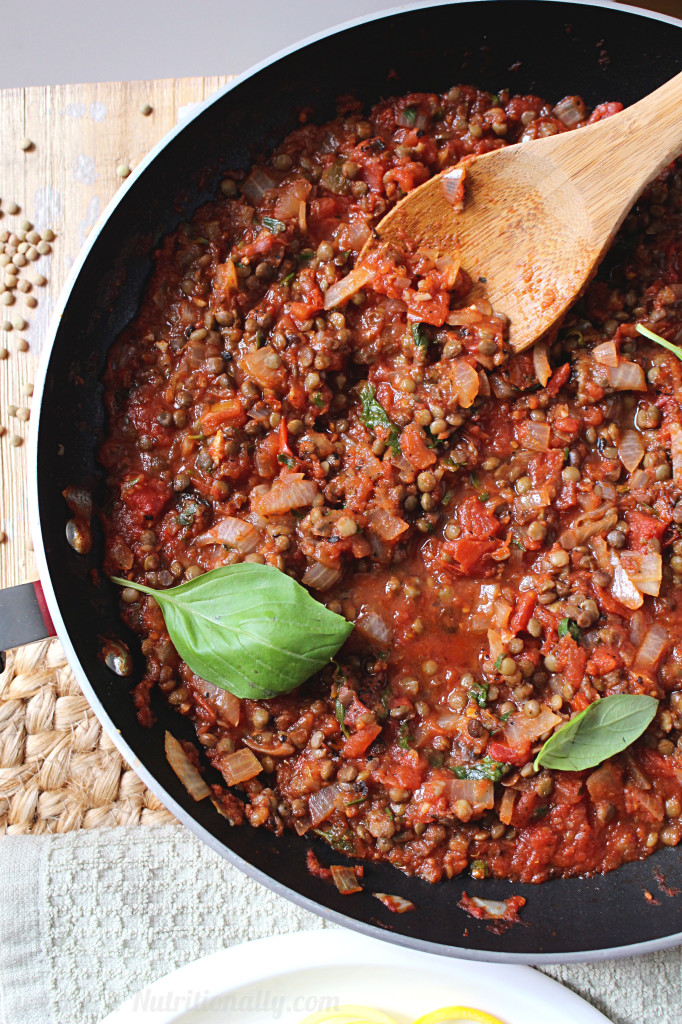 30 Minute Spicy Lentil Bolognese | C it Nutritionally #vegan #vegetarian #glutenfree #grainfree #dairyfree