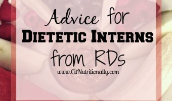 Advice For Dietetic Interns, from RDs
