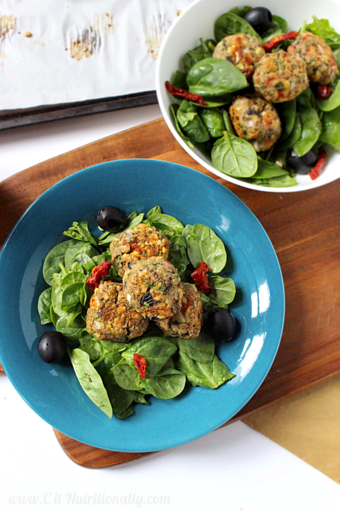 "Mediterranean Mung Bean and Olive ""Meatballs"" 