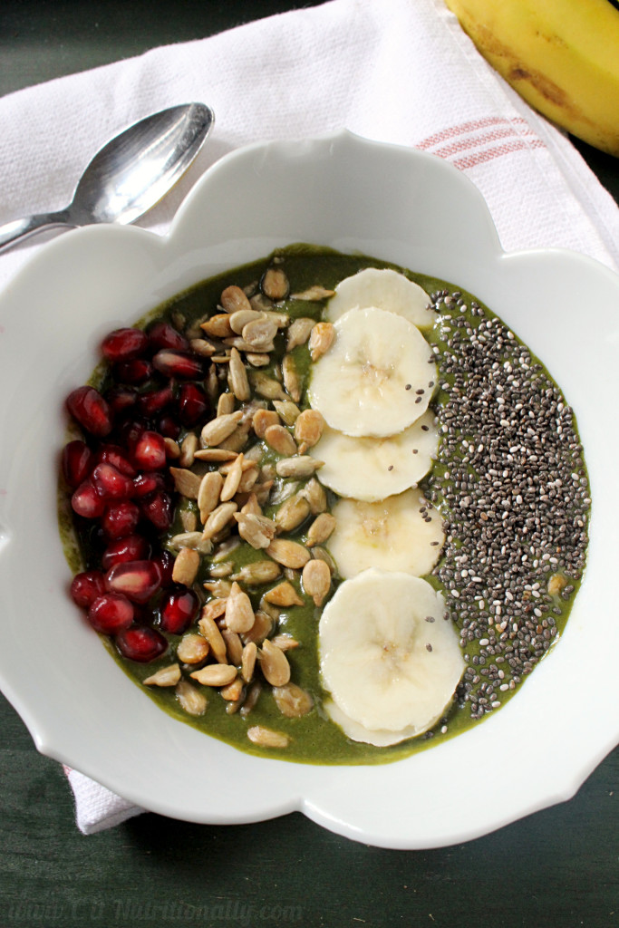 The Ultimate Green Cocoa Smoothie Bowl | C it Nutritionally #vegan #glutenfree #grainfree #breakfast