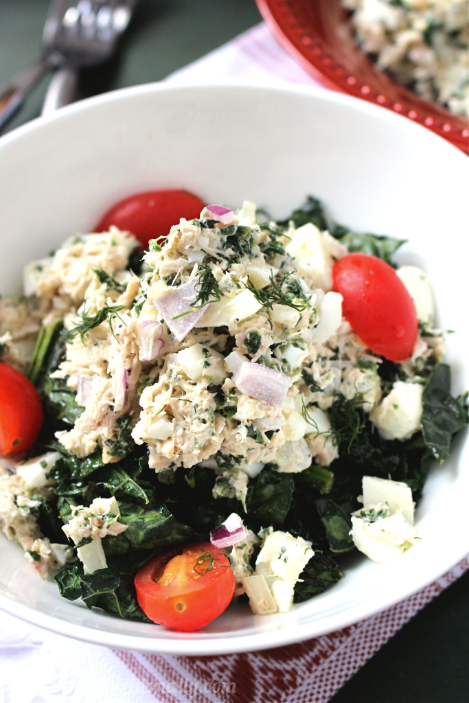 Spinach egg white and tuna salad c it nutritionally for How to make tuna fish with eggs