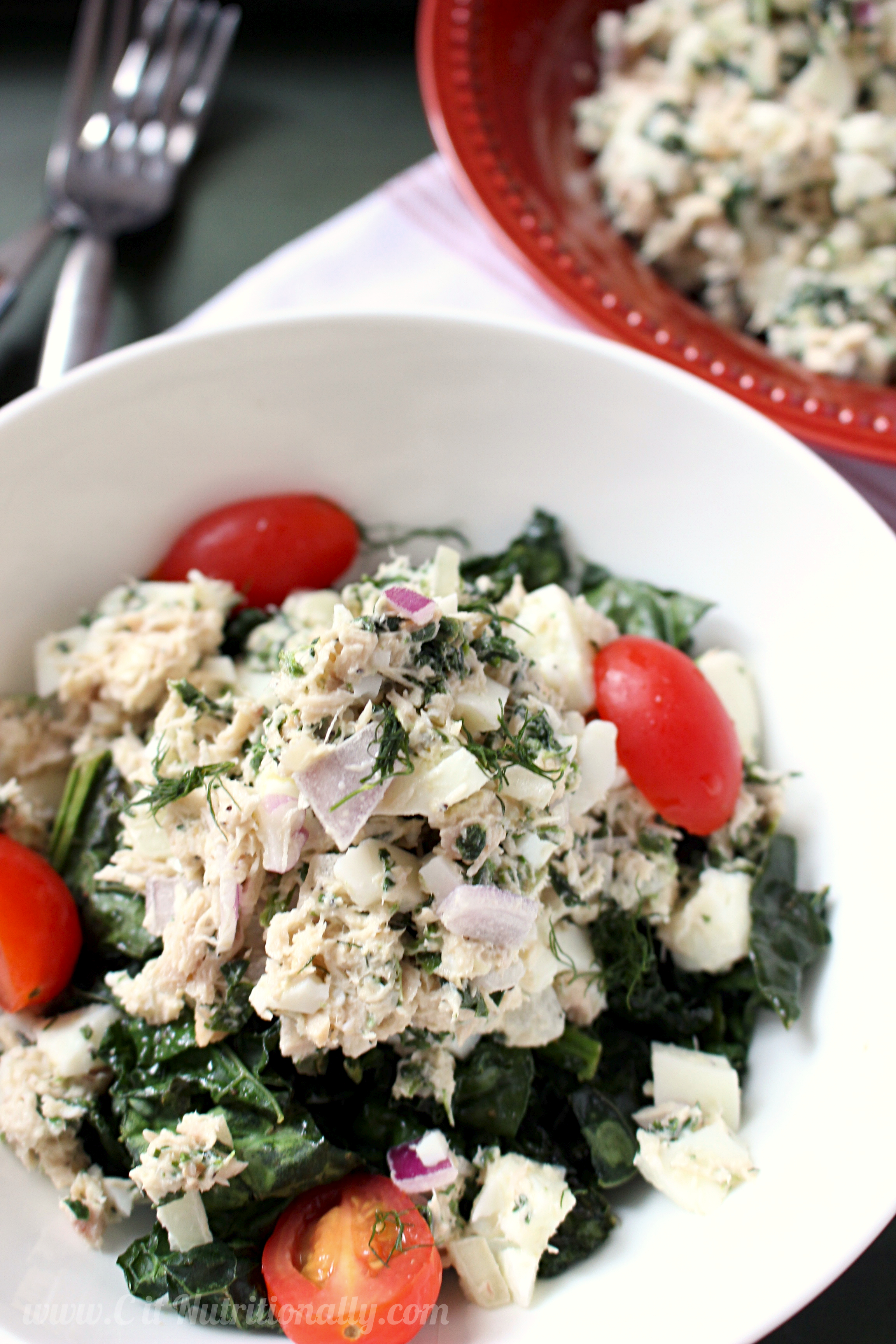Spinach, Egg White & Tuna Salad | C it Nutritionally