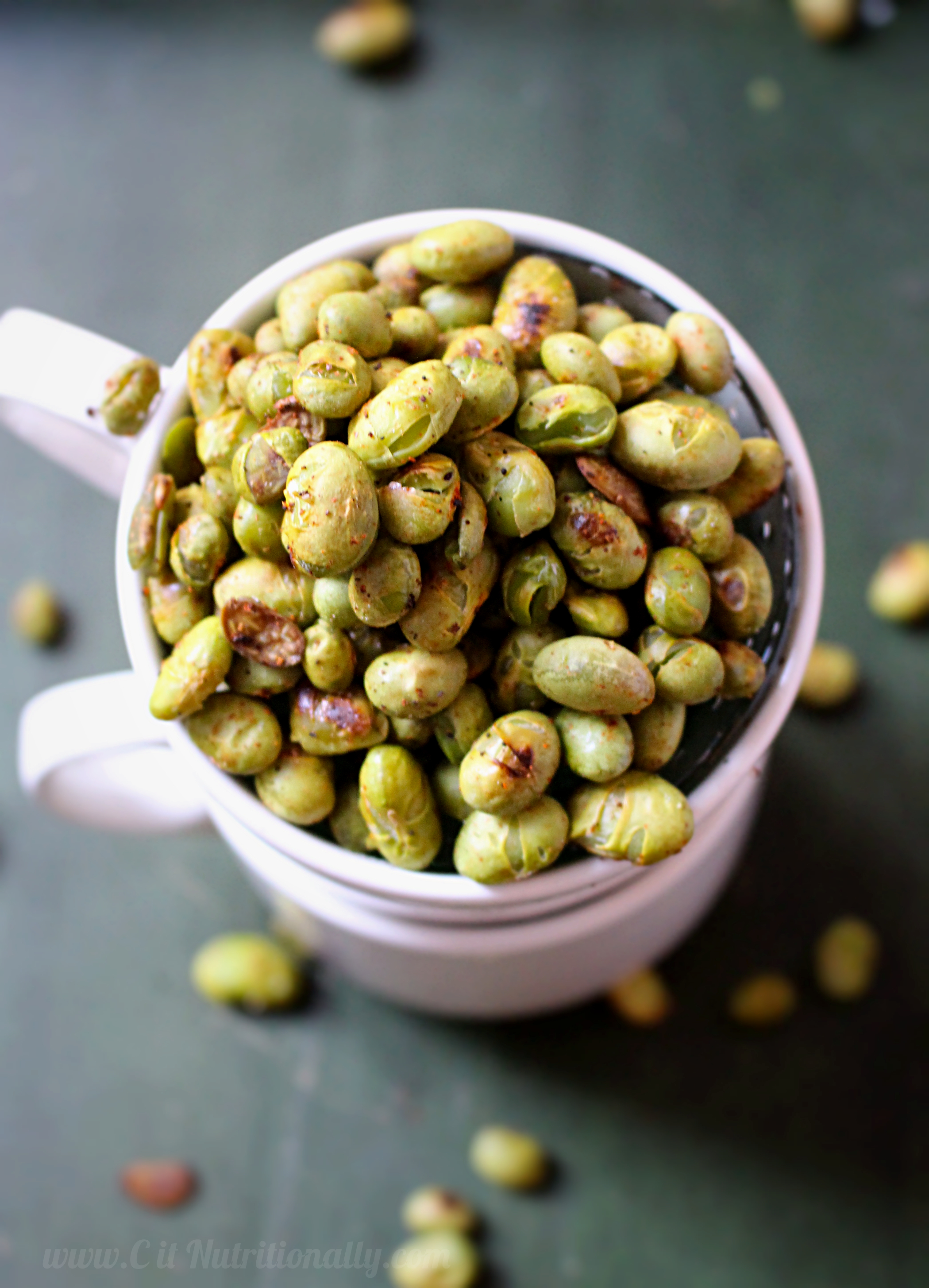 Crispy Roasted Edamame | C it Nutritionally #glutenfree #grainfree #vegan