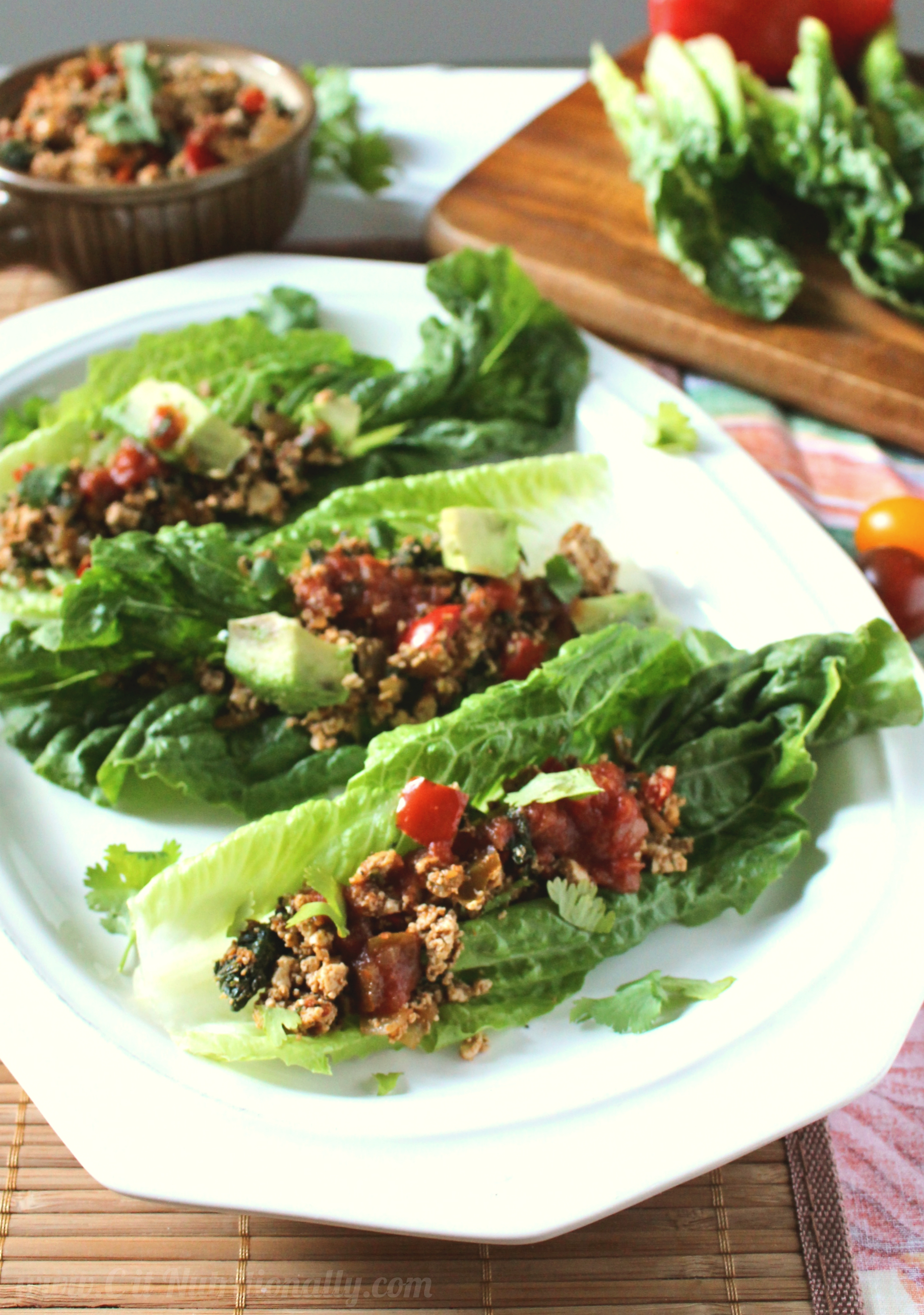 Tofu Tacos in Lettuce Cups | C it Nutritionally #vegan #vegetarian #meatlessmonday