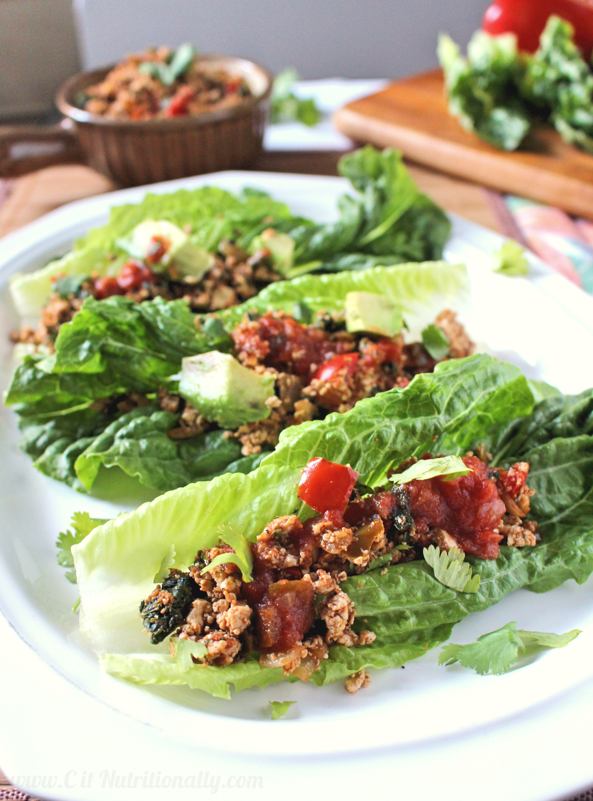Tofu Tacos in Lettuce Cups | C it Nutritionally #vegan #healthyfood #glutenfree