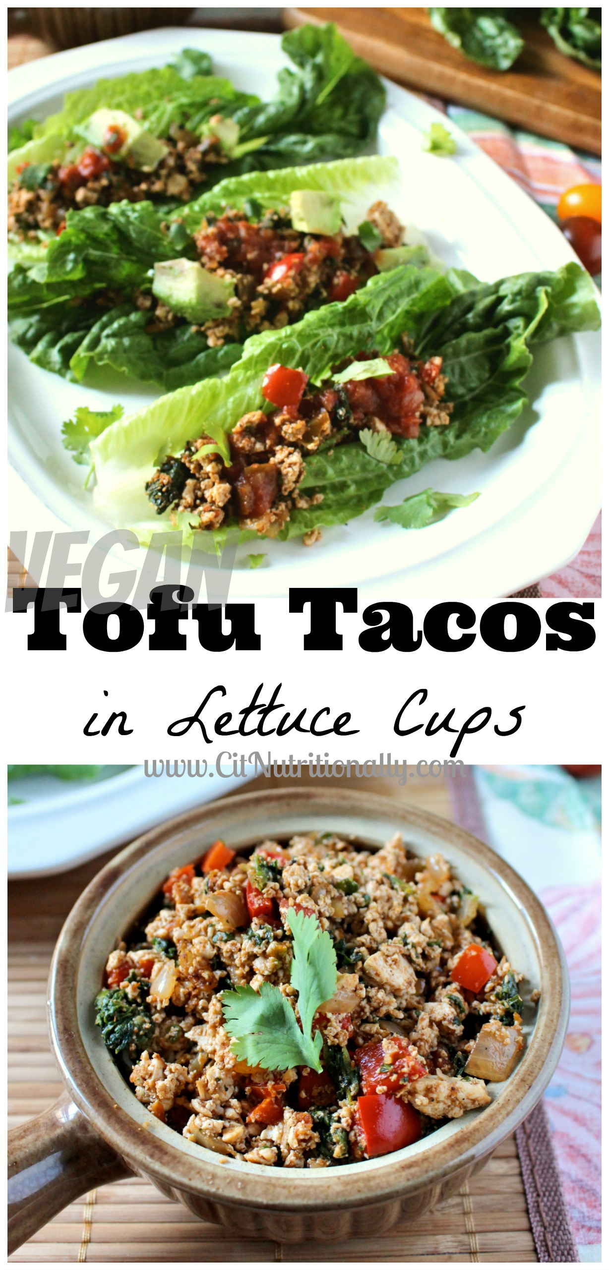 Tofu Tacos in Lettuce Cups | C it Nutritionally