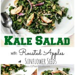 Kale Salad with Roasted Apples and Sunflower Seeds (& my goals for 2016!)