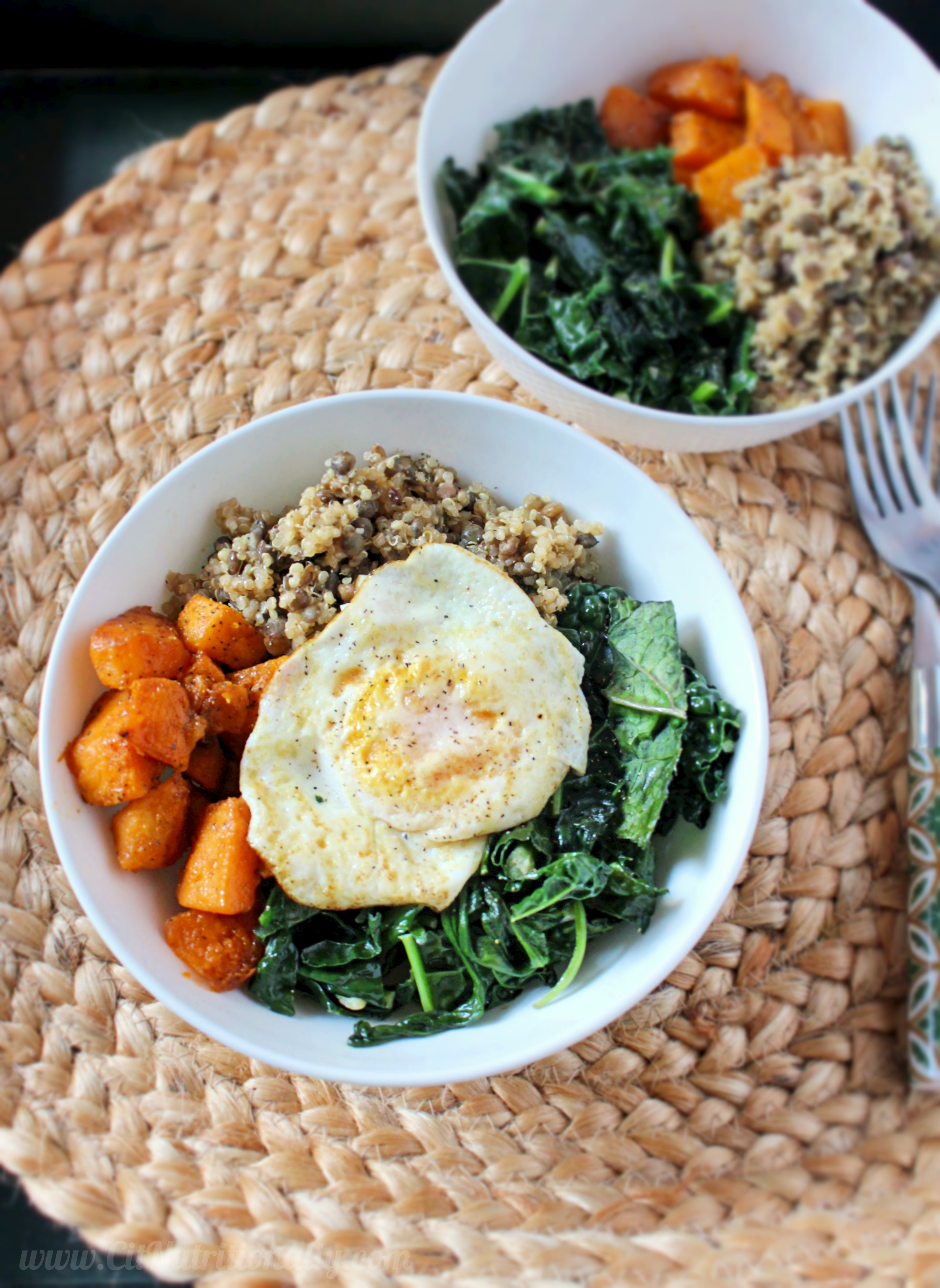Quinoa and Lentil Power Bowl | C it Nutritionally #glutenfree #vegan option