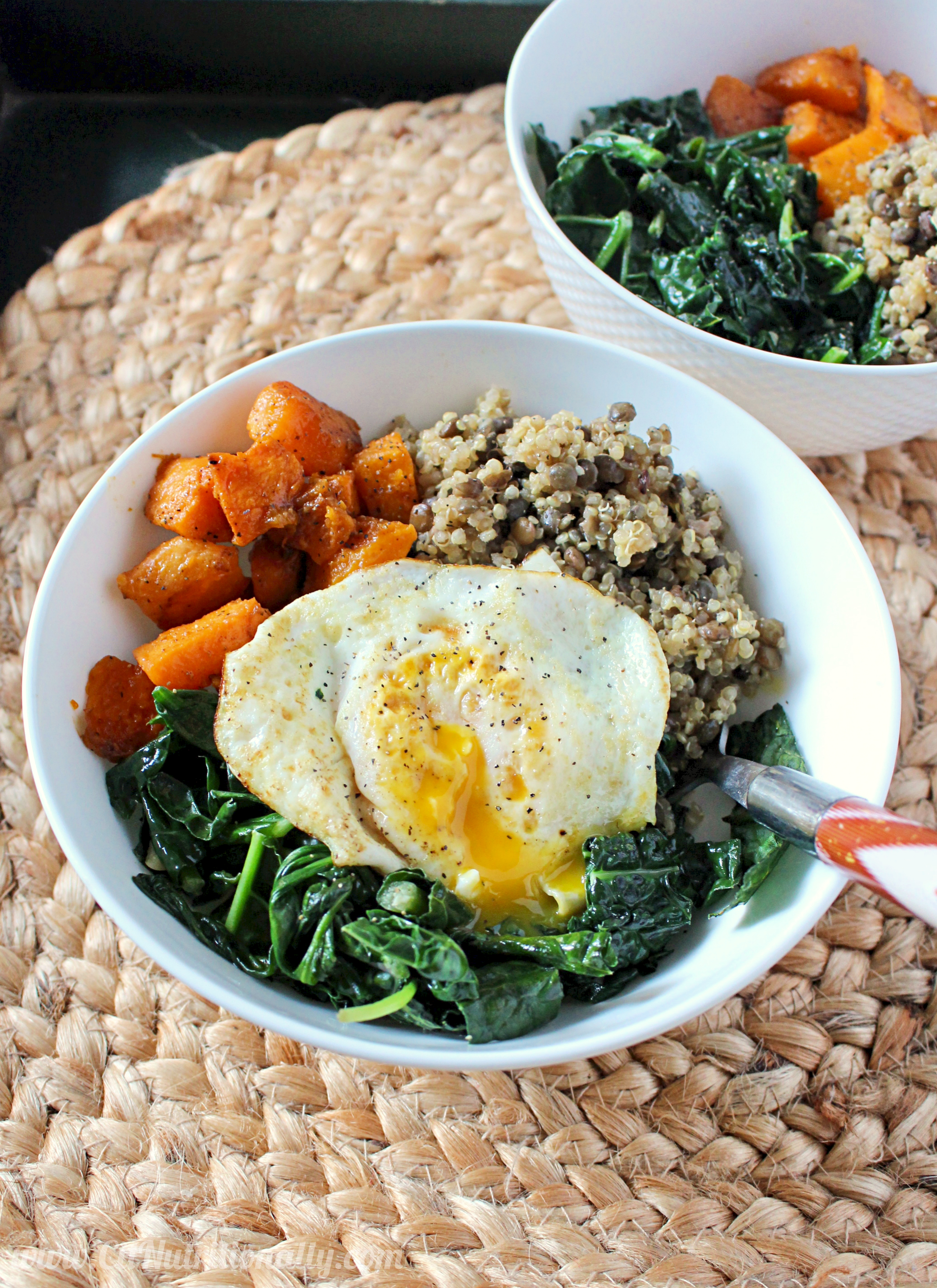 Quinoa and Lentil Power Bowl | C it Nutritionally #glutenfree #vegan option #MeatlessMonday