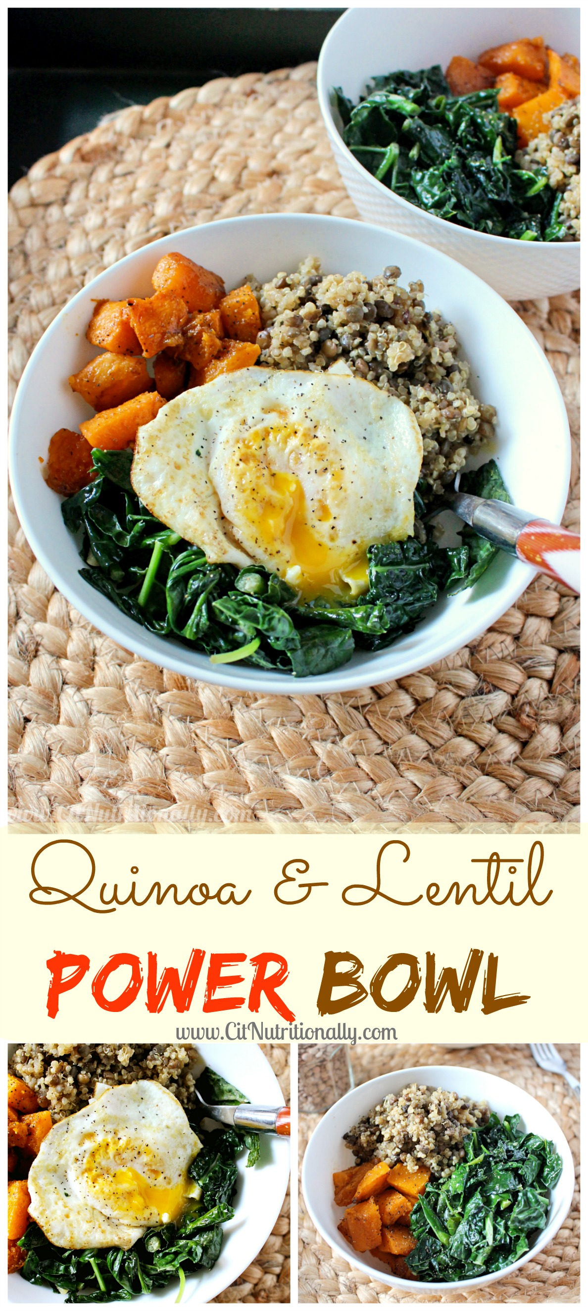 Quinoa and Lentil Power Bowl | C it Nutritionally