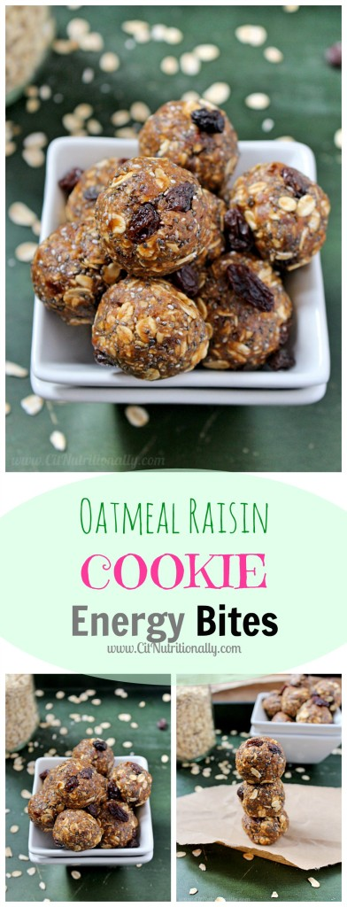 Oatmeal Raisin Cookie Energy Bites {with no added sugar!} | C it Nutritionally
