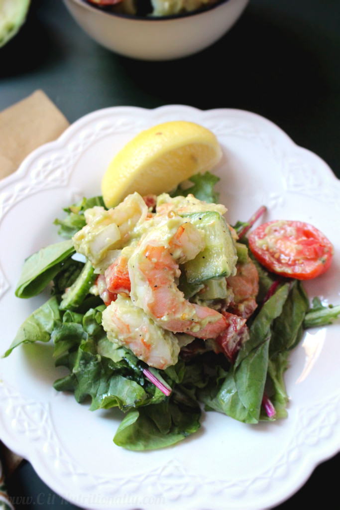 Shrimp Avocado Salad | C it Nutritionally #glutenfree #grainfree #healthy #lunch