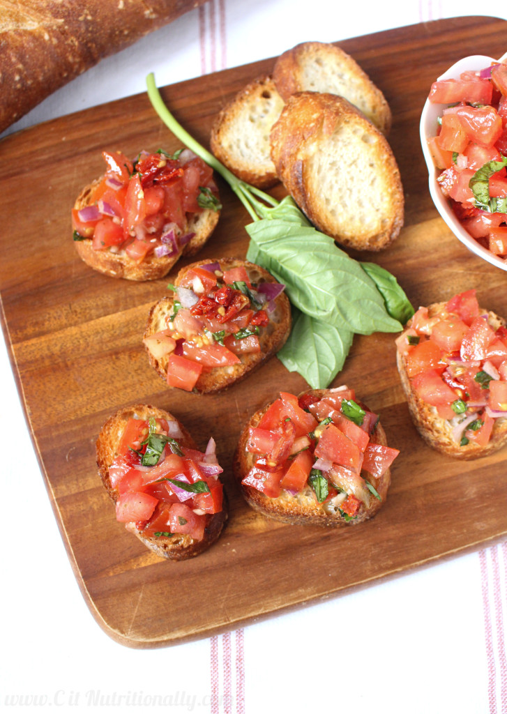 Sun Dried Tomato Bruschetta | C it Nutritionally