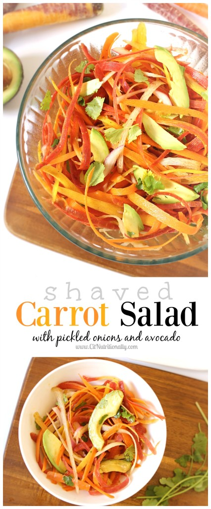 Shaved Carrot Salad | C it Nutritionally (Gluten Free, Vegan, Grain Free, Paleo)