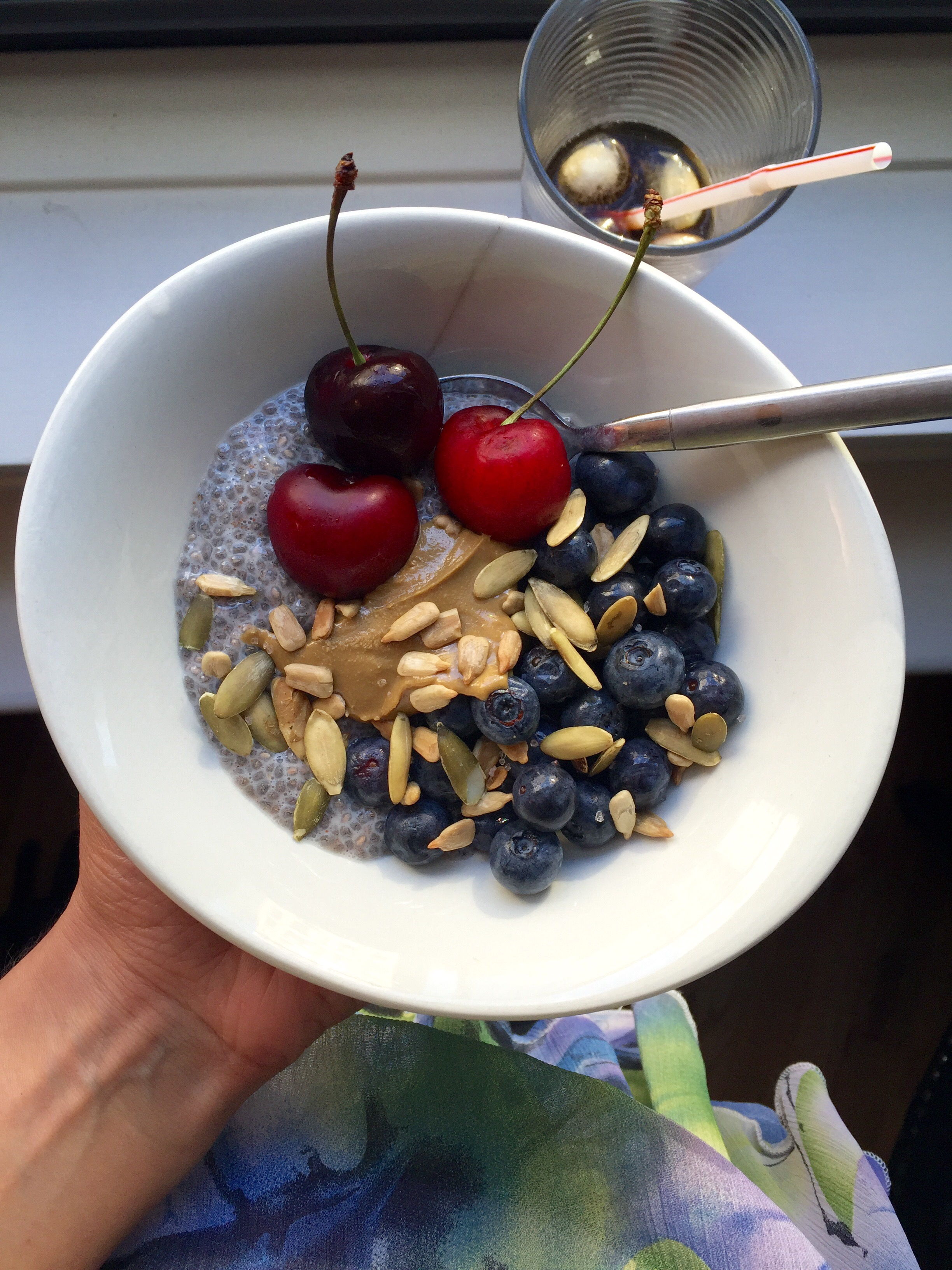 What I Ate Wednesday 28 | C it Nutritionally | Breakfast: Chia Pudding + fruit, sunflower seed butter + seeds