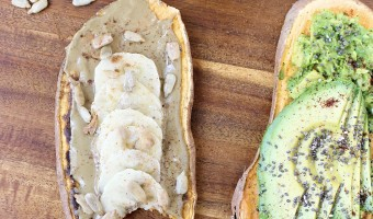 Sweet Potato Toast, 2 Ways {Back To School}